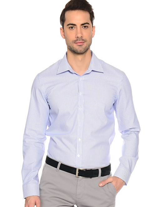 Fabrika Slim Fit Uzun Kollu Gömlek Mavi